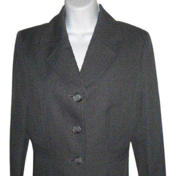 Jones New York Gray Jacket Blazer Size 8